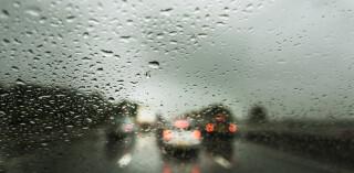 Schlechte Sicht Autofensterscheibe