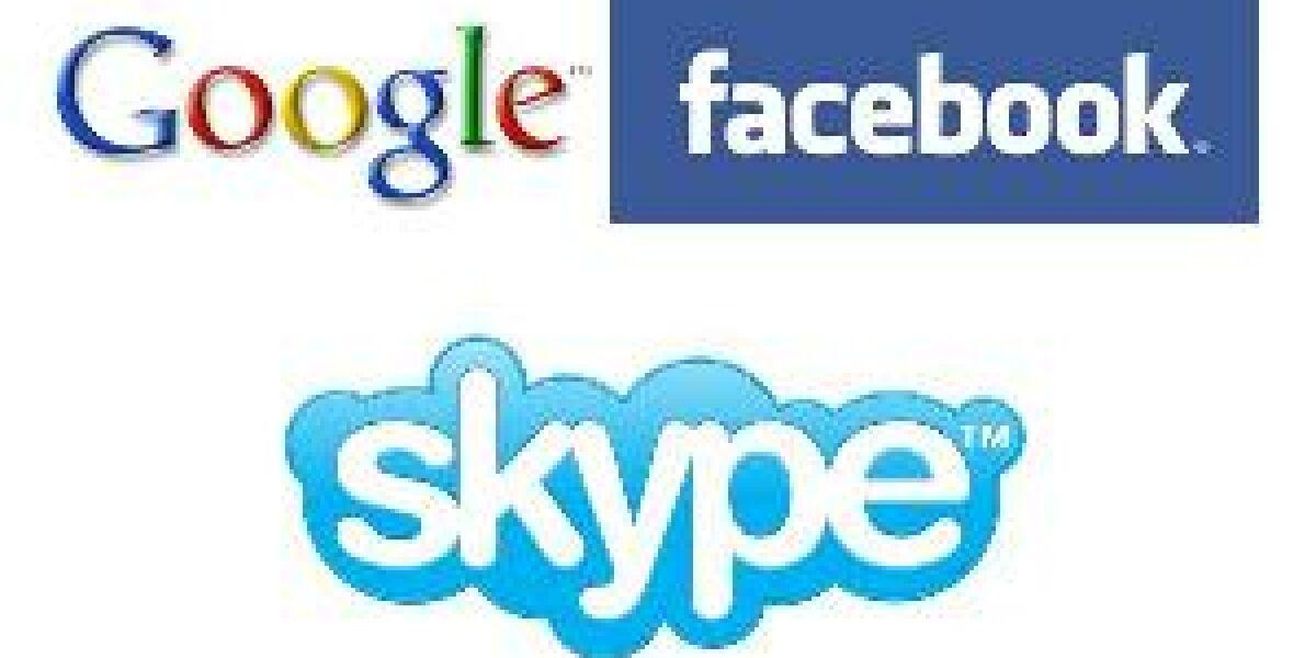 Google und Facebook wollen Skype