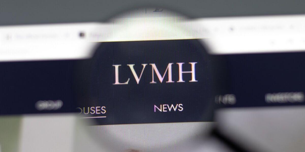 LVMH Logo auf Website