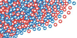 Social Network Symbole auf weißem Hintergrund