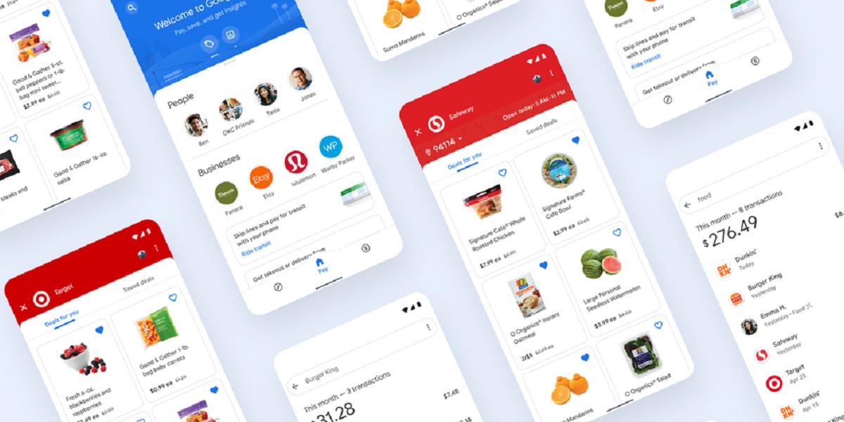 Google Pay App Screens
