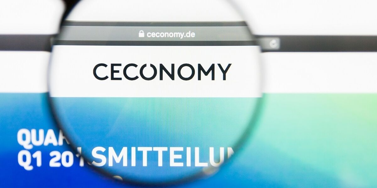 Ceconomy Website mit Lupe