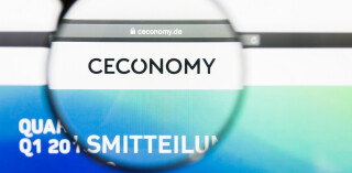 Ceconomy Website mit Lupe
