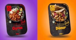 zwei Like Meat Produkte, in der Verpackung
