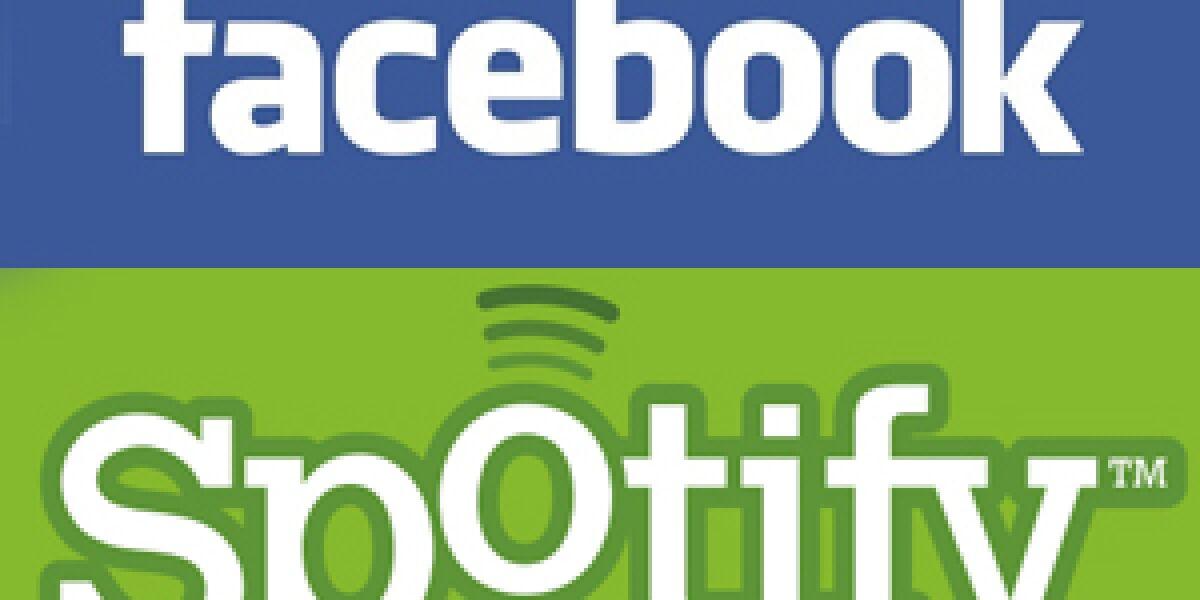 Kooperation zwischen Facebook und Spotify