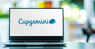 Capgemini Logo auf Laptop Screen