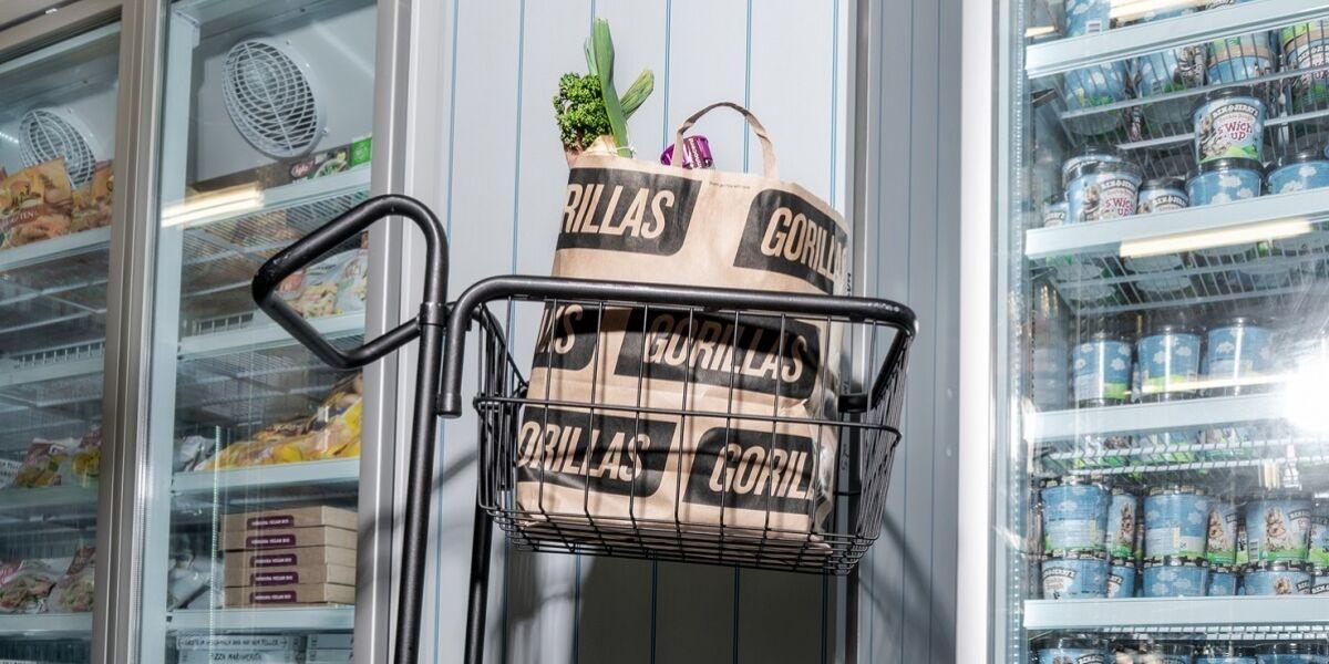 Gorillas Einkaufstüte