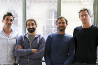 Ankorstore-Gründer (v.l.n.r.): Pierre-Louis Lacoste, Mathieu Alengrin, Nicolas Cohen und Nicolas d'Audiffret