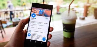 Twitter-App auf Smartphone