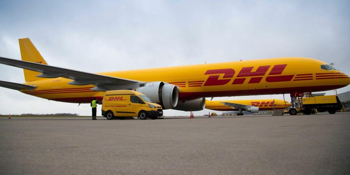Fracht-Flugzeug DHL