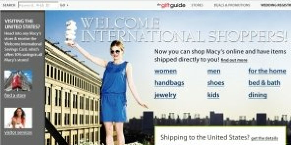 Macy's.com: Internationaler Roll-Out