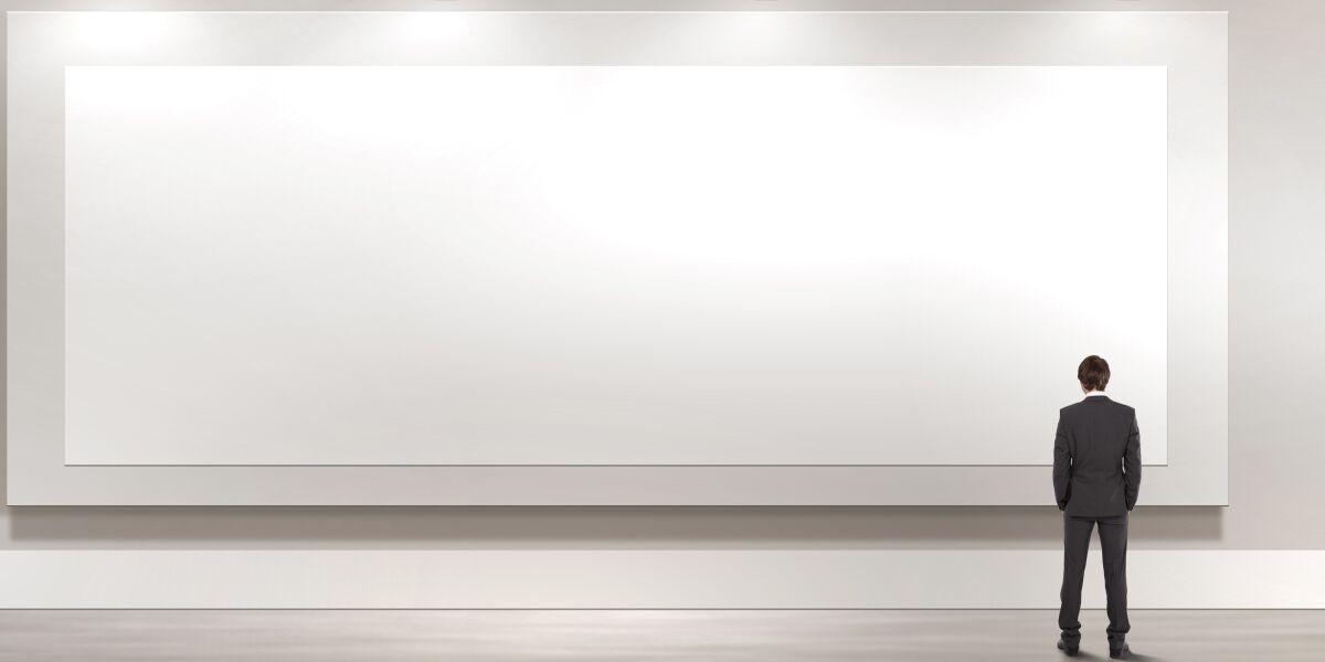 Weiße Werbefläche