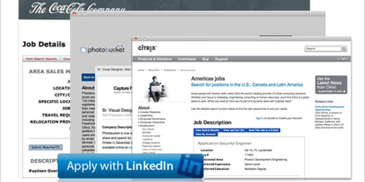 LinkedIn baut Schnittstelle für schnelle Bewerbungen