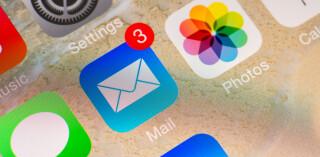 E-Mail Icon auf Smartphone