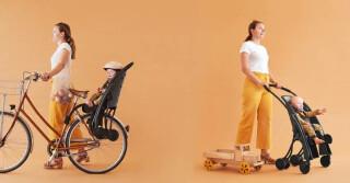 Frauen mit Pahoj auf Fahrrad und selbstfahrend