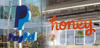 Logos von PayPal und Honey