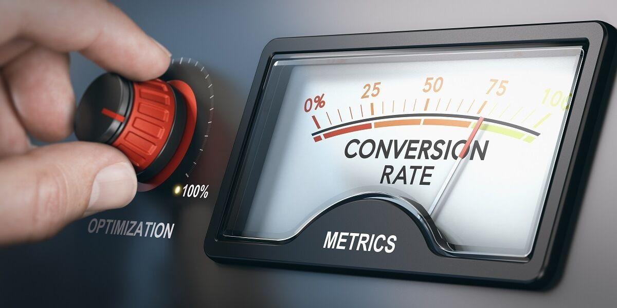 Regler mit Anzeige Conversion Rate