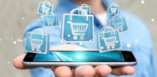 Smartphone Einkaufswagen