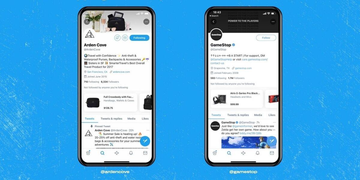 Smartphone Screens mit Twitter App
