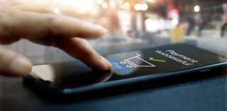 Abgeschlossene Zahlung via Smartphone