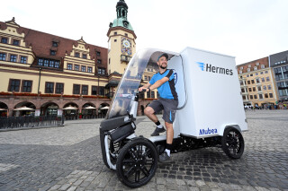 Hermes testet Mubea eCargo Bike in Leipzig