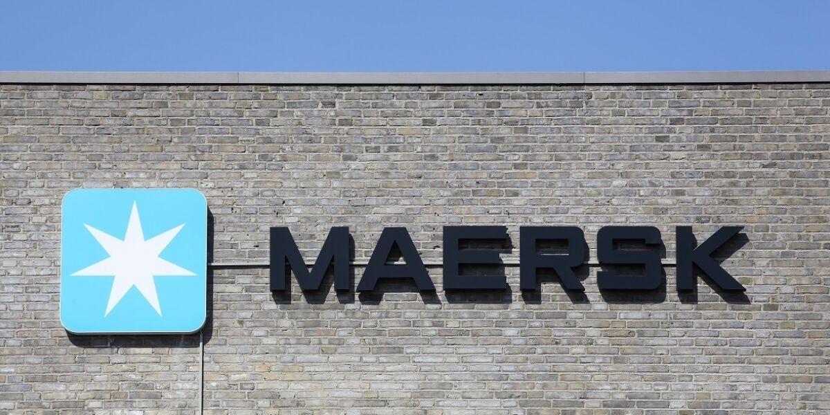 Maersk Logo an Gebäude