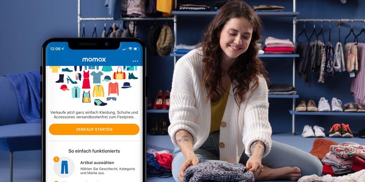 Kleidung verkaufen mit Momox App