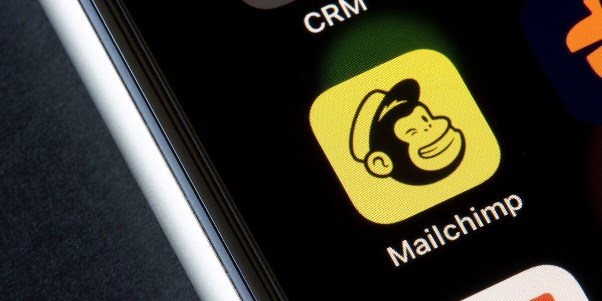 Mailchimp App auf Smartphone