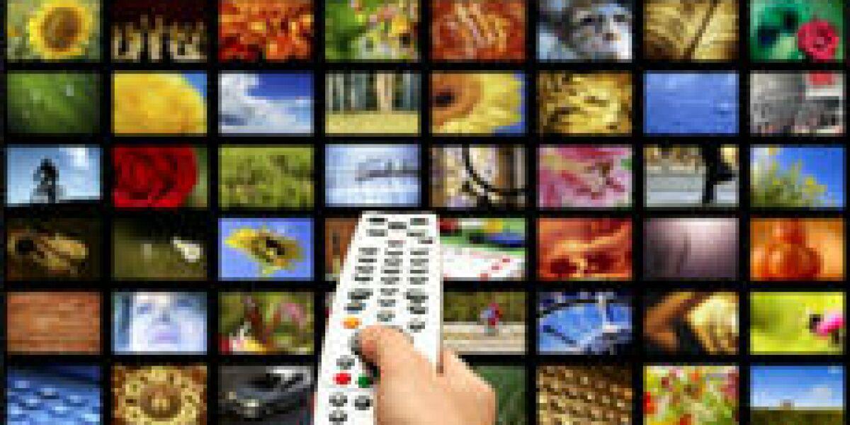 Surfen und Fernsehen