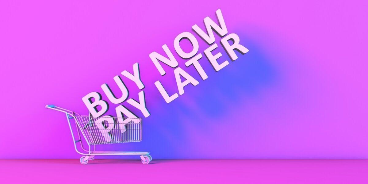 """Buy now, pay later""-Schrftzug"