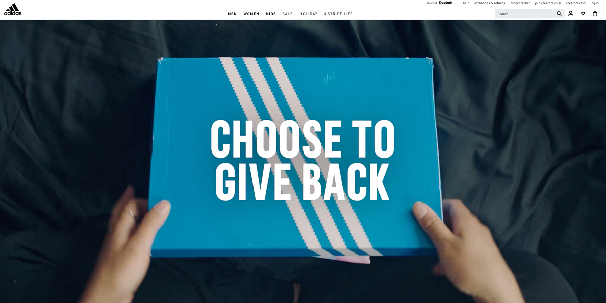 """Adidas Initiative """"Choose to Give Back"""""""