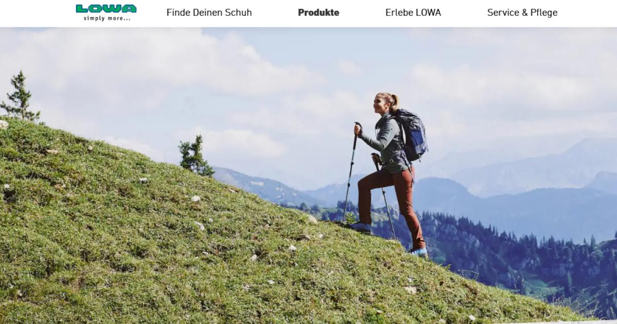 Lowa setzt auf Direktvertrieb und integriert Shopping-Funktion auf Webseite