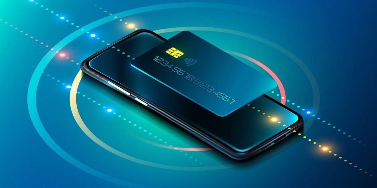 Smartphone und Kreditkarte