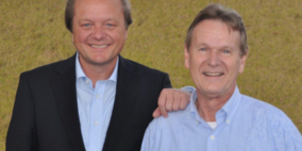 Otto-Vorstand Hanjo Schneider und Posthaus-Chef Jan Zadrozny