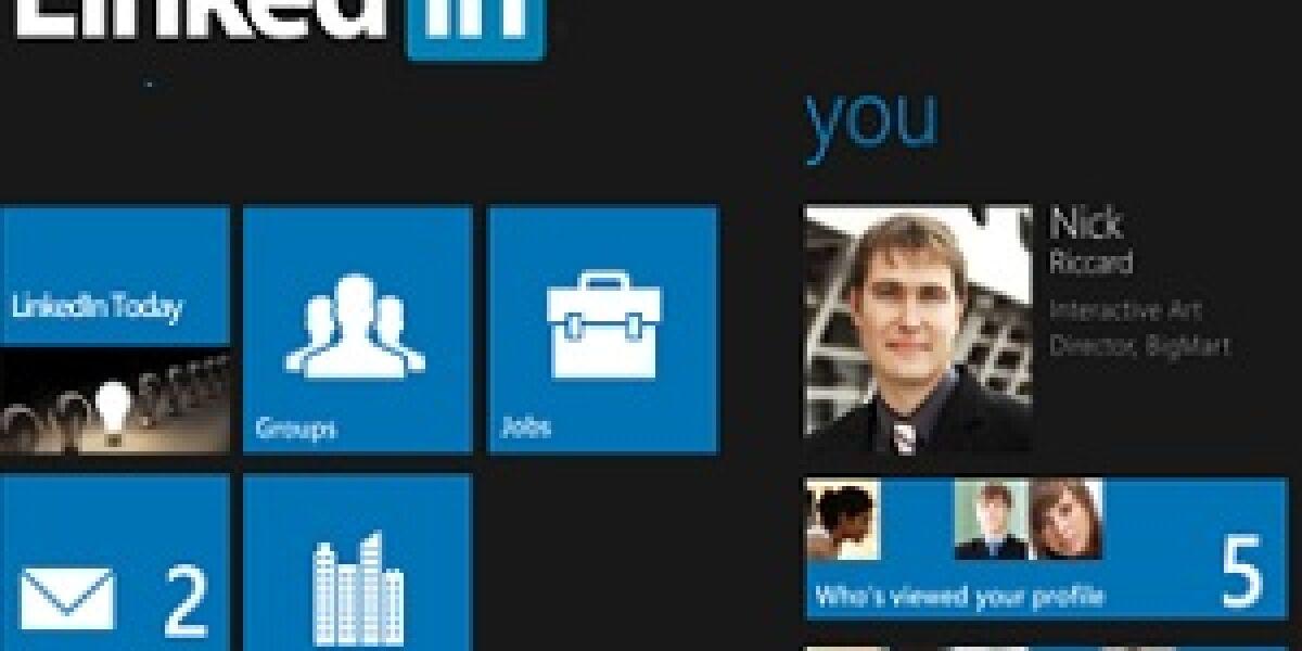 Linkedin kommt aufs Windows Phone