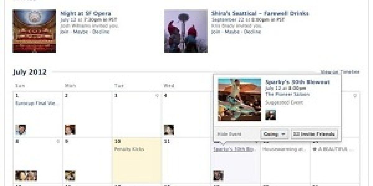 Facebook Events überarbeitet