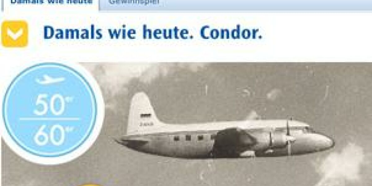 Condor-Geschichte als Microsite