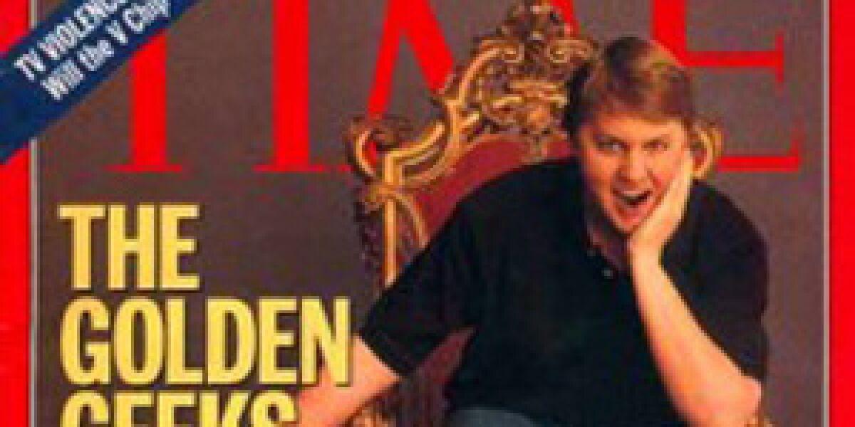 Groupon-Investor und Web-Legende Marc Andreessen auf einem Time-Cover von 1996