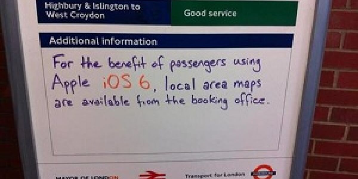 Entschuldigung wegen Apples Maps-Desaster