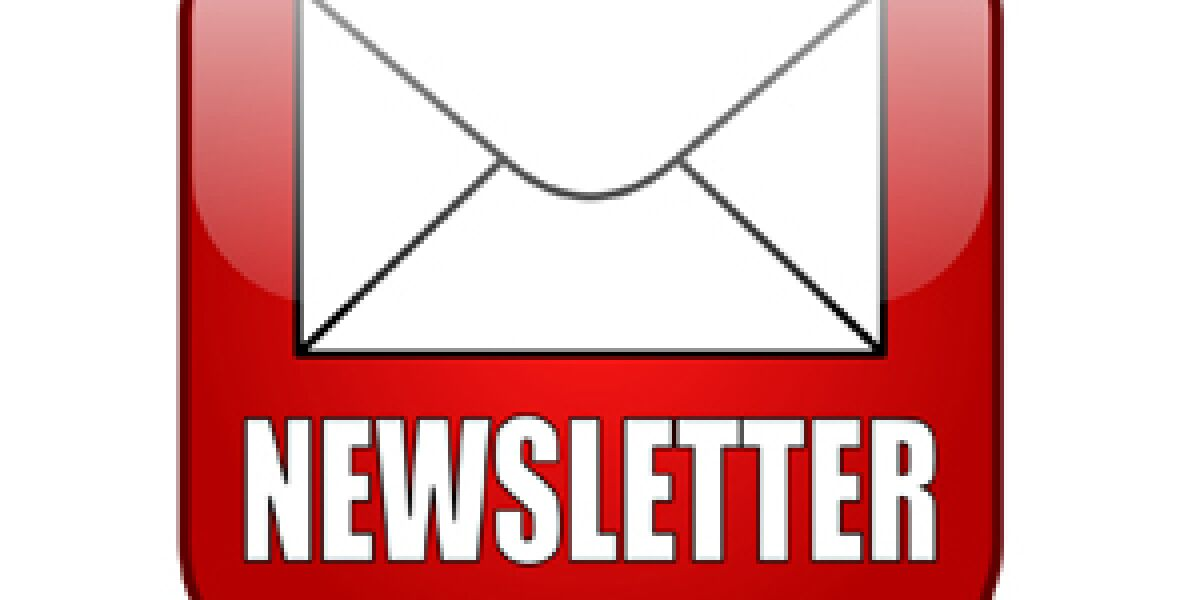 Rotes Newsletter-Icon