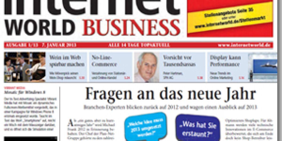 INTERNET WORLD Business 01/2013