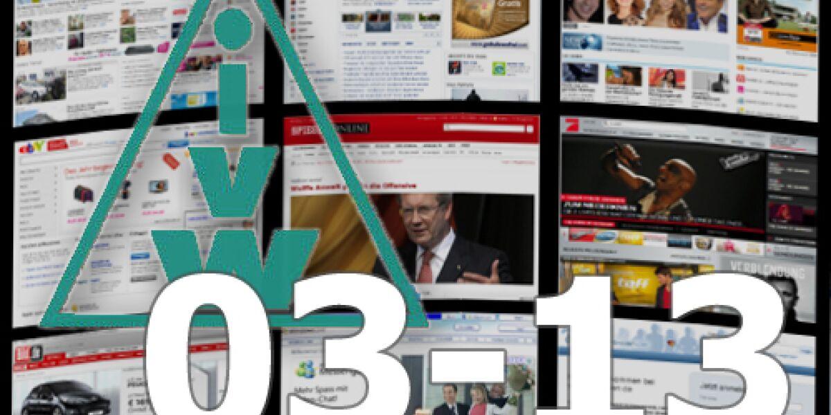 IVW-Ranking für März 2013