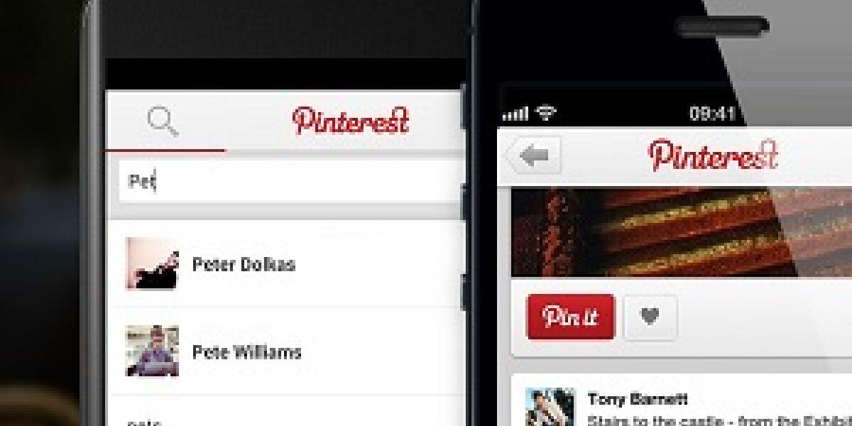 Update bei Pinterest mobile