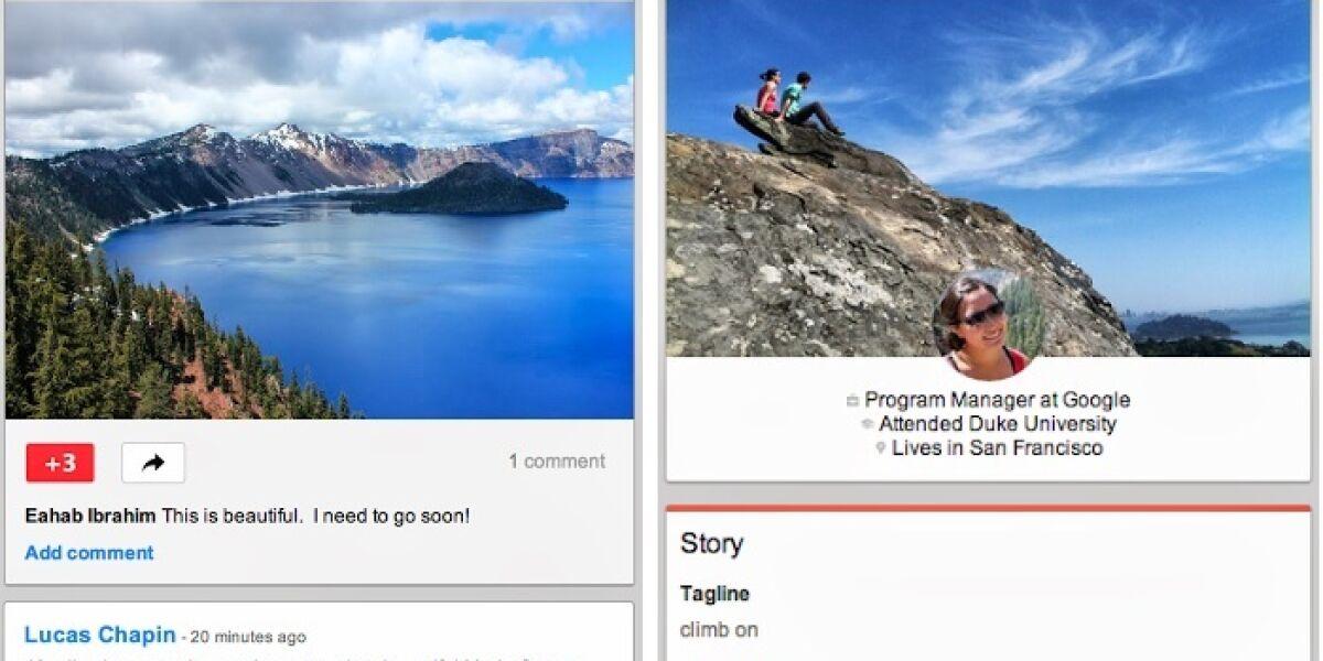 Google+-Redesign fürs mobile Web
