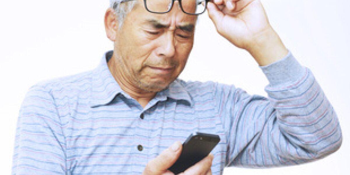 Ältere steigen auf Smartphones um