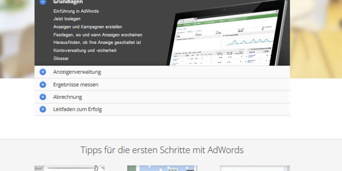 Neues Adwords-Help-Center