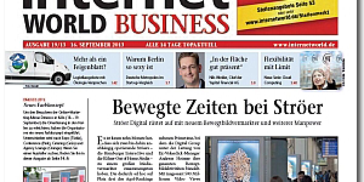 INTERNET WORLD Business 19/2013