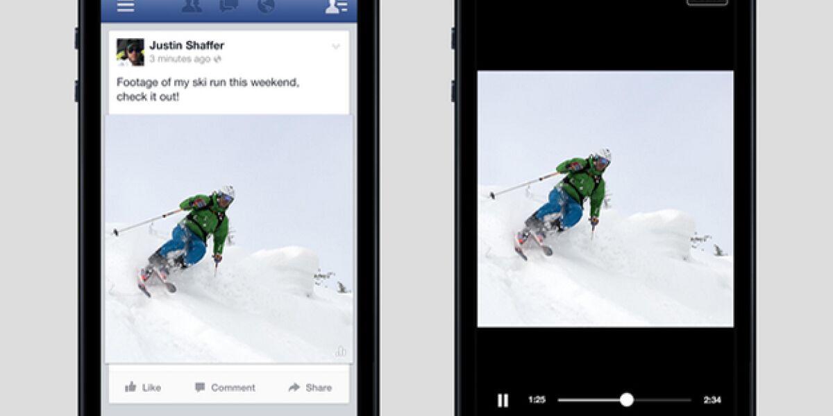 Lautlose Videos bei Facebook