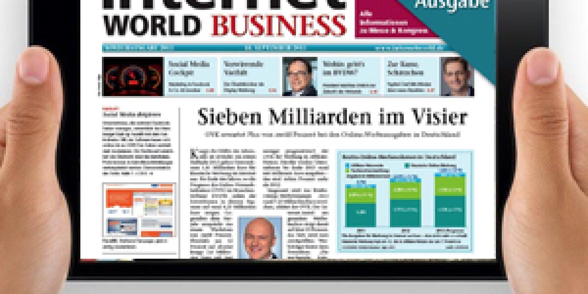 INTERNET WORLD Business auf dem iPad