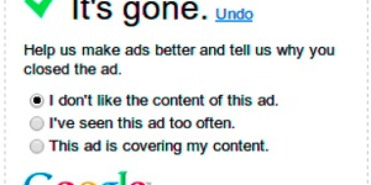 Umfrage nach Werbeausschaltung